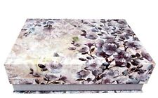 Punch Studio Flap Rectangle Flip Top Nesting Box Lilac Floral Postcard 18891 Med