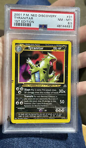 Tyranitar 1st Edition Neo Discovery NM MT 8.5 PSA Pokemon #31
