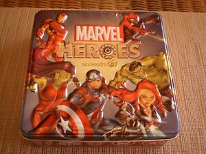 MARVEL HEROES WOOLWORTHS COLLECTIBLE ADVERTISING  TIN