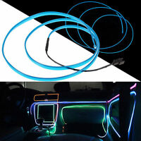 Flexible LED 12V Neon Light Glow EL Wire Rope Tube Car Decorative Light Strip 1M