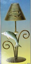 Dolphin Metal Candle Lamp ~ NIB