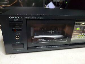 Vintage 1985 Onkyo TA-2027 Single Cassette Tape Deck Tested