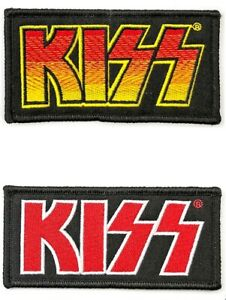 OFFICIAL Classic KISS Logo Woven Patches 10 cm x 5 cm NEW