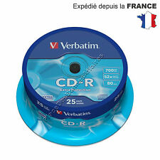 CD R Verbatim Vierge 52X 700 Mo Extra Protection Lot de 25 NEUF PROMOTION !!!