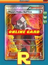 Ago Maxie's Hidden Ball Trick Full - For Pokemon TCG Online (PTCGO in game card)
