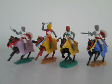 Vintage Timpo Toy Plastic Soldiers Medieval Knights On Horseback Mounted