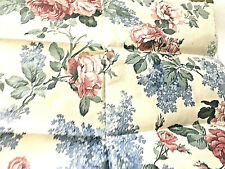 """""""WAVERLY Vinyl Floral Fabric Ivory Multicolor Outdoor Water Resistant  52 x 19 L"""