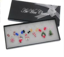 Set of 6 Christmas Wine Glass Charms Gift Boxed Table Setting Christmas Dinner
