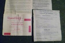 1950s  RAYMOND REVUEBAR  STRIPTEASE CLUB INFORMATION
