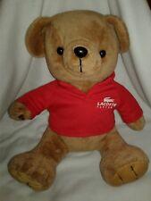"2010 Lacoste Limited Edition Plush Stuffed Animal Teddy Bear 16"""