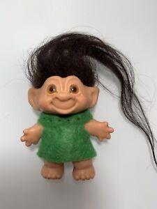 "Rubber Spiral Eye Troll Doll 1960's Dam Era Original 2 1/2"""