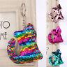 Cat Shaped  Sequins Key Chain Handbag Pendant Keyring Jewelry Gifts Cute GQ