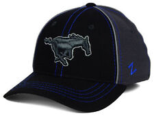 SMU Mustangs Zephyr NCAA Black Charcoal Storm Flex Fit Hat Cap size M/L