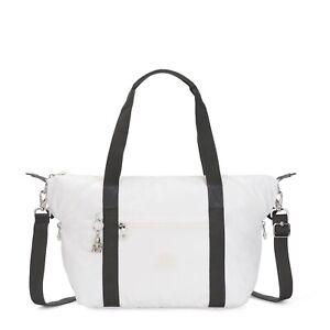 Kipling Shoulder Bag ART Large Travel Tote WHITE METALLIC SS20 RRP £93