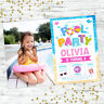POOL PARTY INVITATIONS BIRTHDAY SUMMER POOL PARTY SUPPLIES GIRLS PHOTO INVITES