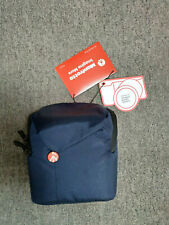 NEW MANFROTTO NX CAMERA POUCH BAG CASE ZIP SLING DSLR SOULDER MB NX-P-1 BLUE