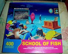 Springbok 400 Pc Jigsaw Puzzle SCHOOL OF FISH Used