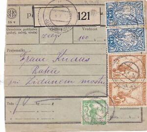 Slowenien, SHS, Jugoslawien, PAKETKARTE Jesenice Fužine, 1919