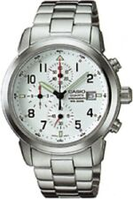 Casio MSY-501D-7B DURO 200M WR Chronograph Stainless Steel Watch Date WHITE Dial