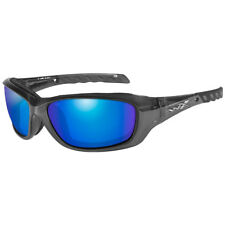 Wiley X Gravity Black Crystal Blue Mirror Ccgra04 Sunglasses Authentic