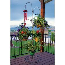 Hanging Baskets Tree for Plants Flower Stand Holder Hooks Outdoor Indoor Patio