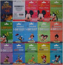 14 Different DISNEYLAND Passport Disney Gift Cards 2009: Fantasmic, Mickey++(+1)