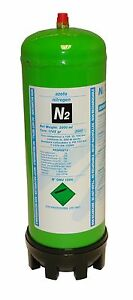 Nitrogen (N2) disposable gas bottle cylinder for plumbers and air con installers