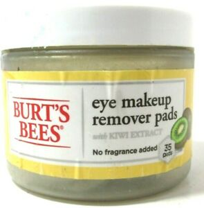 Burt's Bees Eye Makeup Remover Pads w/ Kiwi Extract for Unisex - 35 Pads