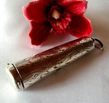 alte Silber Dose 925 Silber um 1900 Utensil kleine Büchse / do 593