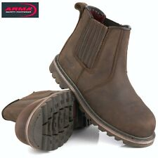 ARMA A17 RAWHIDE RIDGBACK S3 DEALER CHELSEA SAFETY STEEL TOE CAP WORK BOOTS SIZE