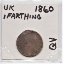 UK Great Britain (England) 1860 Farthing Queen Victoria as pictured