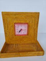 Handmade Tramp Hobo Art Matchsticks Clock Outsider Prison
