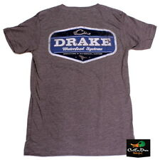NEW DRAKE WATERFOWL SYSTEMS VINTAGE LOGO S/S T-SHIRT GRAPHITE HEATHER 3XL