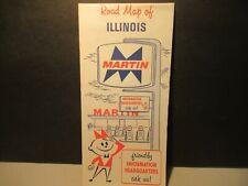 New ListingIllinois Highway Road Map Vintage Martin Gasoline Vintage 1971 Free Usa Ship