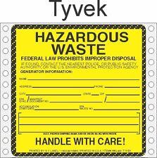 Hazardous Waste Tyvek Labels HWL400 TYVEK (PACK OF 500)