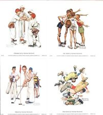 Norman Rockwell Four Great Youth Sports Prints