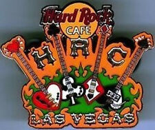 Hard Rock Cafe LAS VEGAS 2005 City Tee T-Shirt Series PIN 4 Guitars - HRC #27908