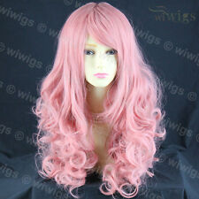 Wiwigs Stunning Cosplay Long Curly Milk Pink Skin Top Ladies Wig