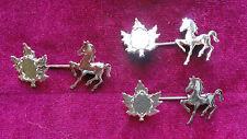 Horse with Oak Leaf Stick Pin Silver Plate (Pkg 3) 1504
