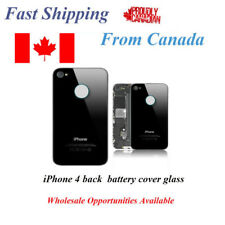 Apple iPhone 4 Back Battery Glass Cover Black