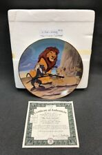 "DISNEY Collector Plate THE LION KING ""The CIrcle Continues"" 1996 12th Issue COA"