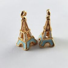 5PCS nice Colorful Alloy Small Eiffel Tower Necklace Pendant Charms