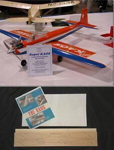"52""Ws SUPER KAOS Sport Pattern R/c Plane short kit/partial kit & plans, PLS READ"