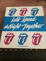 The Rolling Stones Bumper Sticker Let's spend the night together  Rare 1983