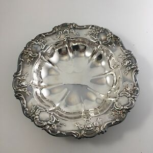 "Vintage Towle Old Master 11"" Round Vegetable Bowl Dish Silverplate"