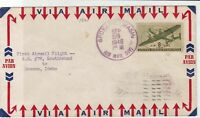 united states 1946 air mail flight stamps cover ref 20037