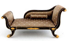 Dolls House Empire Fainting Couch Chaise Longue Sofa Miniature Quality Furniture
