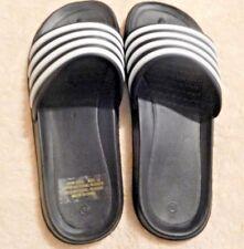 Men's Slippers-Black & White-Size 10-Rubber Material