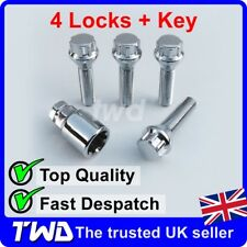 4x EXTRA LONG ALLOY WHEEL LOCKING BOLTS FOR BMW WITH SPACERS 12-16mm WIDE [HS0b]