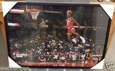 New Framed Michael Jordan Free Throw Foul Line Dunk Quality Poster Print 38x26in